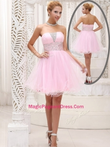 Exquisite Strapless Beading Short Classical Pageant Dresses for Homecoming