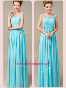 Fashionable Empire Scoop Formal Pageant Dresses with Appliques and Lace