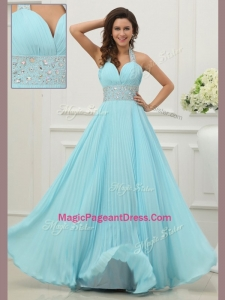 Fashionable Halter Top Exquisite Pageant Dresses with Beading and Paillette
