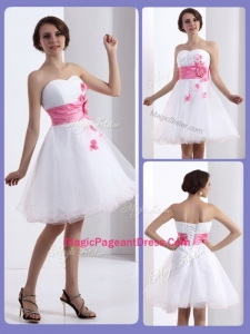 Lovely A Line Sweetheart Amazing Pageant Dresses with Hand Made Flowers
