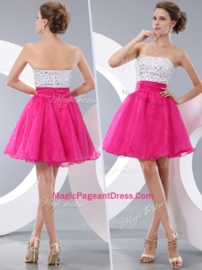 Lovely Princess Strapless Short Classical Pageant Dresses with Beading