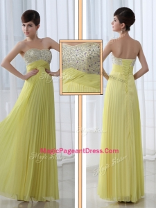 Low Price Sweetheart Floor Length Beading Formal Pageant Dresses for Graduation