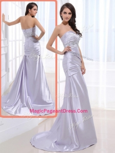 Luxurious Column Sweetheart Formal Pageant Dresses with Beading and Ruching