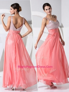 New Arrivals Empire Straps Sequins Exquisite Pageant Dresses in Watermelon
