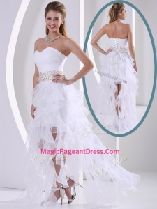 New Arrivals Sweetheart Asymmetrical Beading Exquisite Pageant Dresses with Cocktail