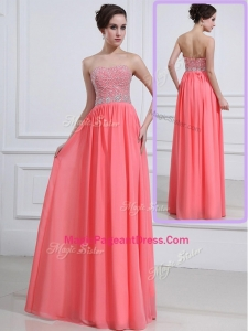 Beautiful Sweetheart Watermelon Natural Pageant Dresses with Beading