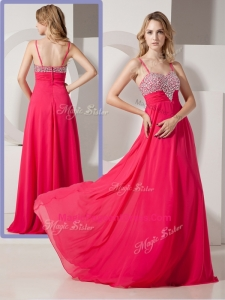 Brand New Style Spaghetti Straps Formal Pageant Dresses with Beading