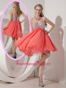 Lovely Sweetheart Mini Length Beading Formal Pageant Dresses for Homecoming