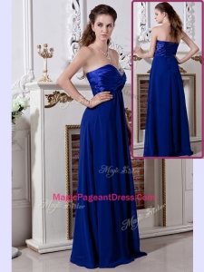 Luxurious Empire Sweetheart Long Modern Pageant Dresses in Royal Blue