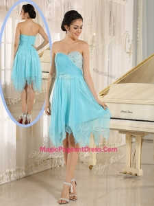 Cheap Asymmetrical Sweetheart Beading Short Special Pageant Dresses