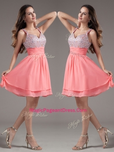 Discount Straps Beading Short Watermelon Perfect Pageant Dresses