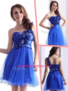 Exquisite One ShoulderSpecial Pageant Dresses with Beading and Hand Made Flowers