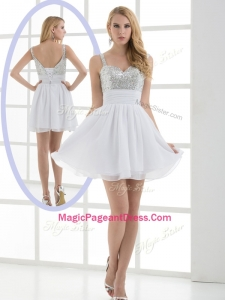 Fashionable Straps Sequins Short Perfect Pageant Dresses for Graduation