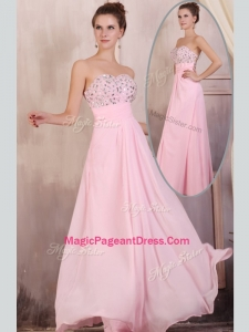 Gorgeous Empire Sweetheart Beading Baby Pink Special Pageant Dresses