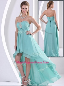 Low Price Sweetheart High Low Perfect Pageant Dresses with Beading