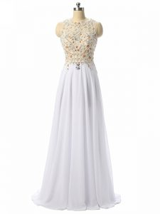 Pretty High Low Empire Sleeveless White Pageant Dress Zipper