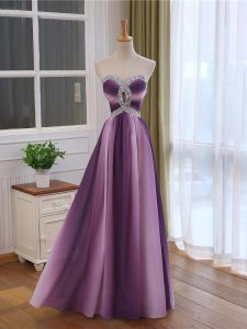 Super Multi-color Sweetheart Neckline Beading and Ruching Pageant Gowns Sleeveless Lace Up