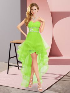 Sumptuous High Low A-line Sleeveless Pageant Dress for Teens Lace Up