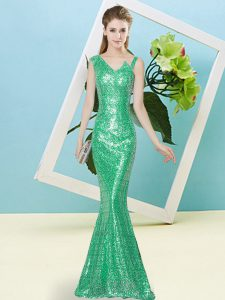 Admirable Turquoise Asymmetric Zipper Sequins Glitz Pageant Dress Sleeveless
