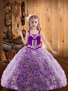 New Style Floor Length Ball Gowns Sleeveless Multi-color Pageant Gowns For Girls Lace Up