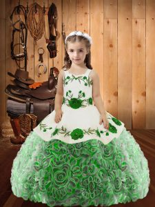 On Sale Floor Length Ball Gowns Sleeveless Multi-color Child Pageant Dress Lace Up