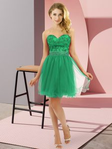 Mini Length Zipper Pageant Dress Toddler Turquoise for Prom and Party with Beading
