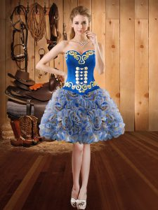 Ball Gowns Pageant Dress Multi-color Sweetheart Fading Color and Fabric With Rolling Flowers Sleeveless Lace Up