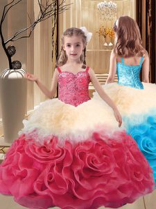 Inexpensive Floor Length Ball Gowns Sleeveless Multi-color Pageant Dress for Teens Lace Up