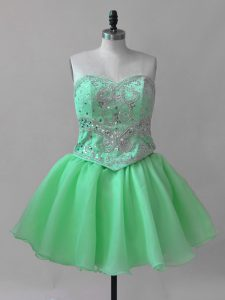 High Quality Sweetheart Sleeveless Pageant Dress for Womens Beading Lace Up