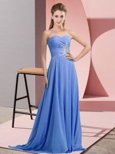 Free and Easy Sleeveless Beading and Ruching Lace Up Pageant Gowns
