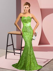 Pageant Dress Womens Prom and Party and Military Ball with Beading Sweetheart Sleeveless Sweep Train Zipper