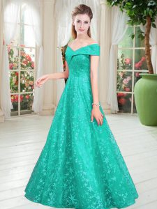 Smart Off The Shoulder Sleeveless Lace Glitz Pageant Dress Beading Lace Up