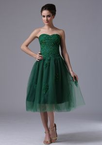 Charming Dark Green Sweetheart Beaded Tulle Interview Pageant Suits in Norway