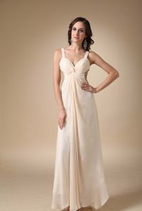 Champagne Chiffon Beaded Taffeta Miss Universe Pageant Dress in Germany