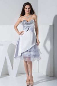 Tea-length Organza and Taffeta Glitz Pageant Dresses with Bowknot in Addison