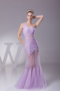 Brand New Mermaid Lilac One Shoulder Girl Pageant Dress with Appliques