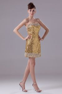 Brand New Gold Sweetheart Pageant Dresses with Sequin Over Skirt in Erie
