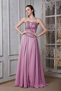 Exclusive Strapless Rose Pink Floor-length Dresses For Pageants in Ballater