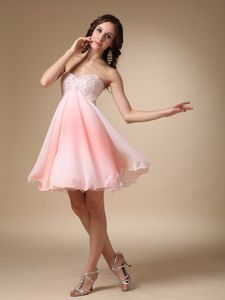 New Arrival Pink Beaded Sweetheart Short Youth Pageant Dresses in Keith
