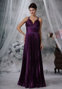 Column Straps Beaded Youth Pageant Dresses in Purple From Edgemont