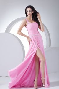 One Shoulder Pageant Dresses with Ruches for Miss USA From Antioquia