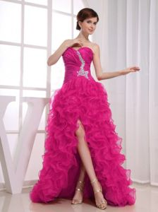 A-line Sweetheart High-low with Ruffles Girl Pageant Dress in Dillon Beach