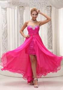 Hot Pink Sweetheart Pageant Dress with Sequins Patterns From El Mirage