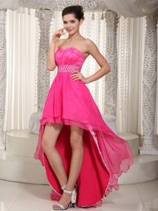 Sweetheart High-low Laced Miss Mississippi Pageant Dress in Ehrenberg