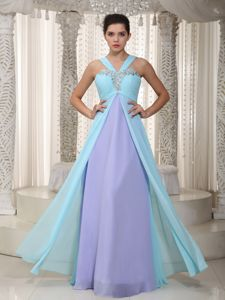 Empire Straps Floor-length Beaded Interview Pageant Suits in Dragoon
