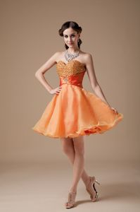 Sweetheart Beaded Interview Pageant Suits in Orange Red in Casa Grande