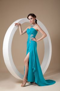 Teal Sweetheart Chiffon Pageant Girl Dresses with Sequins From Fort Jones