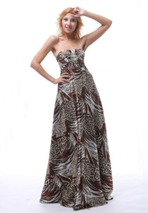 2013 Multi-color Beaded Prom Pageant Dresses with Printing From Firebaugh