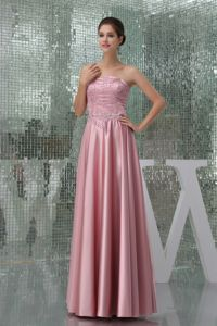 Empire Strapless Beaded Floor-length Interview Pageant Suits in Pink form Biloxi