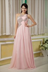 Asymmetrical Chiffon Empire Floor-length Interview Pageant Suits in Beading in Columbia